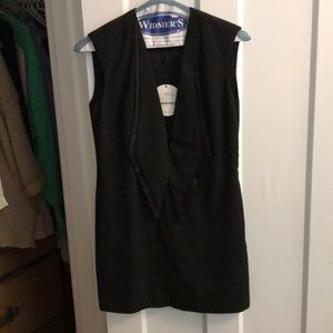 Black tuxedo sleeveless dress